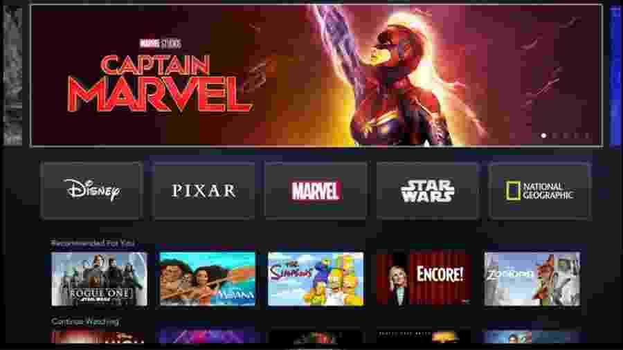Disney+, o serviço de streaming da Disney, abrigará as grandes produções da casa - Divulgação