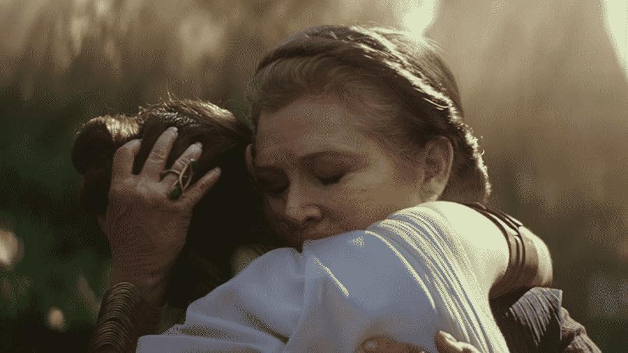 Carrie Fisher em cena de Star Wars: A Ascensão Skywalker - Reprodução