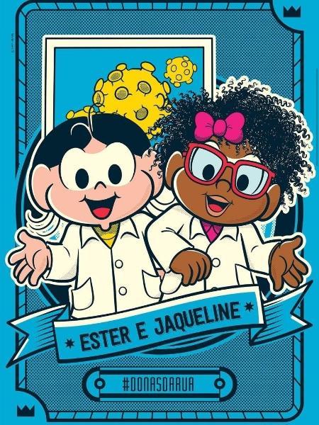 Ester e Jaqueline como Magali e Milena - Reprodução/Twitter