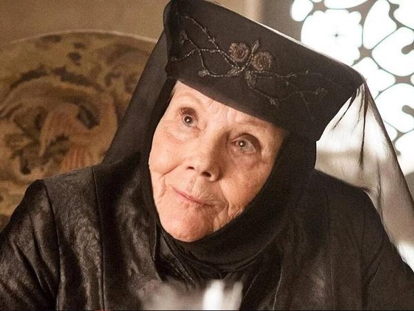 Diana Rigg como Olenna Tyrell em 'Game of Thrones'