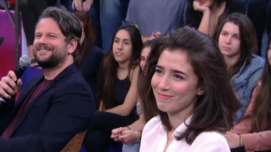 """Marjorie Estiano e Selton Mello no """"Altas Horas"""" - Reprodução/TV Globo"""