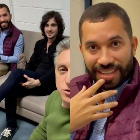 """Gil e Fiuk foram ao programa """"Caldeirão do Hulk"""" - Reprodução / Instagram"""