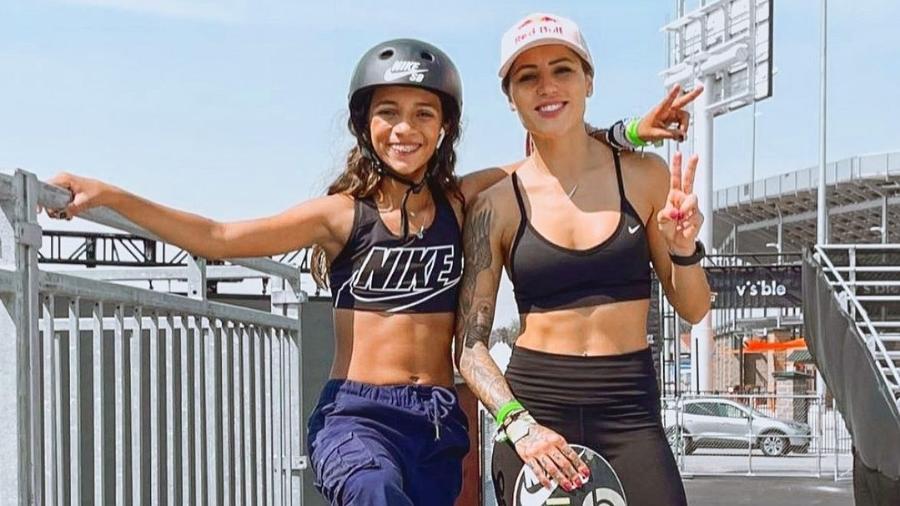 Letícia Bufoni e Rayssa Leal juntas em Utah, nos EUA, onde disputam etapa da SLS - Reprodução Instagram