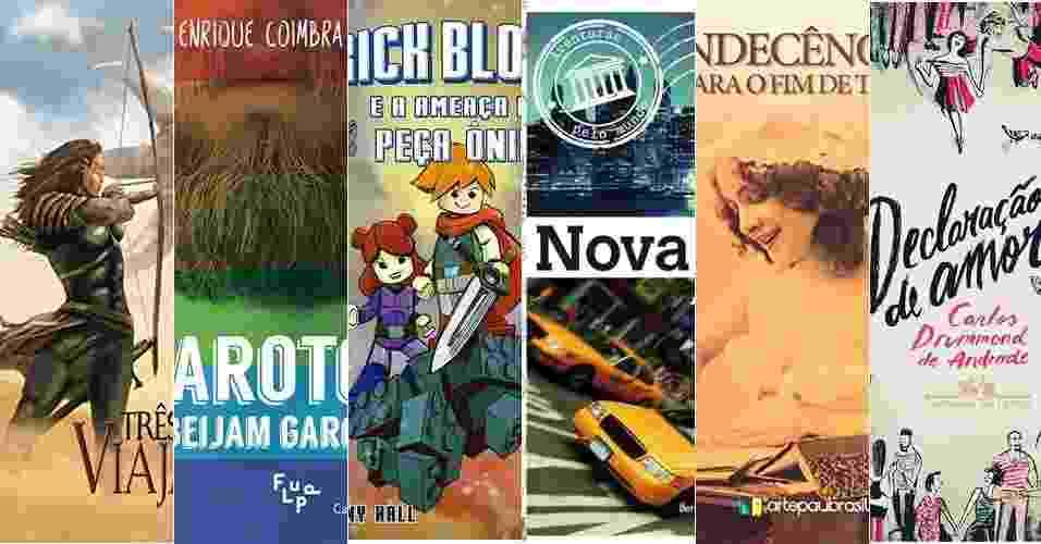 Montagem com capas de livros para dar de presente de Natal - Reprodução