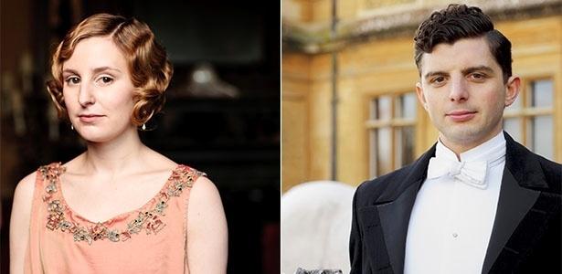 Laura Carmichael e Michael Fox começaram a namorar após o fim de Downton Abbey, segundo jornal - Fotomontagem
