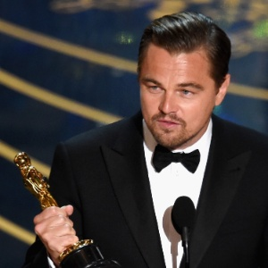 Leonardo DiCaprio no Oscar 2016, que rendeu recordes de audiência para o canal TNT - Kevin Winter/Getty Images