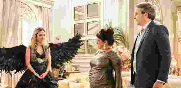 """Tatá Werneck, Grace Gianoukas e Alexandre Borges em ensaio de """"Haja Coração"""" - Ramón Vasconcelos/TV Globo - Ramón Vasconcelos/TV Globo"""