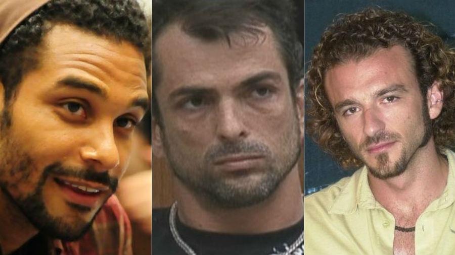 """Daniel, Dourado e Serginho deram trabalho para a Globo; lembre polêmicas do """"BBB"""" - Fotomontagem"""