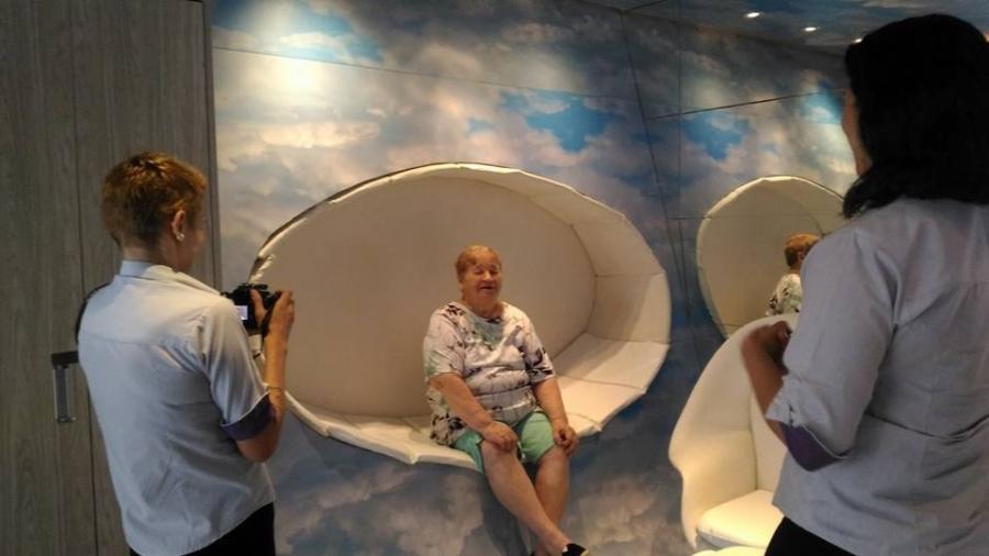 Dona Hortênsia confidenciou à neta, Agatha, que tinha um sonho de conhecer um motel - Reprodução/Facebook