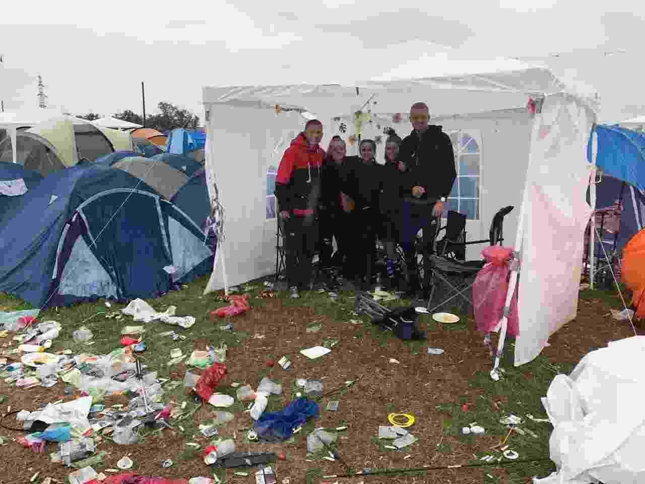 Christian Stii, 21, mora em Roskilde, mas durante o festival acampa com os amigos perto do festival - Felipe Branco Cruz/UOL