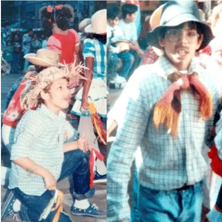 Cauã Reymond e o irmão, Pavel, em foto da infância - Reprodução/Instagram/denisereymond