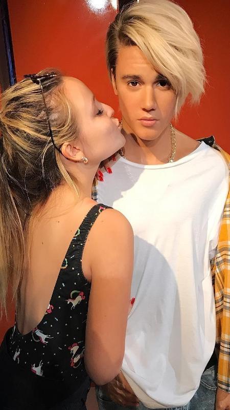 "Larissa Manoela tieta ""Justin Bieber"" - Reprodução/Instagram"