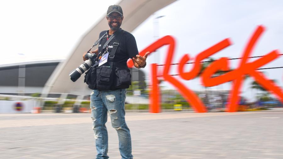 O fotógrafo Marco Antonio Teixeira usou um meio de transporte especial no Rock in Rio - Alexandre Macieira/UOL