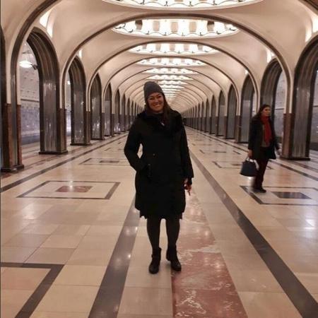 Nadine Gonçalves, mãe de Neymar, em passeio por estação de metrô de Moscou - Reprodução / Instagram