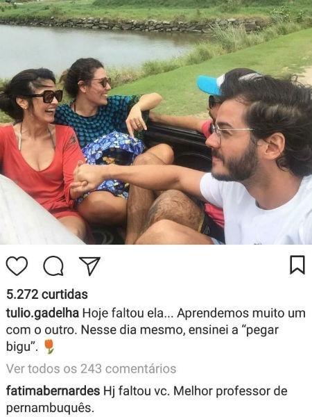 Namorado de Fátima lamenta ausência da apresentadora em aniversário e ela responde - Reprodução/Instagram