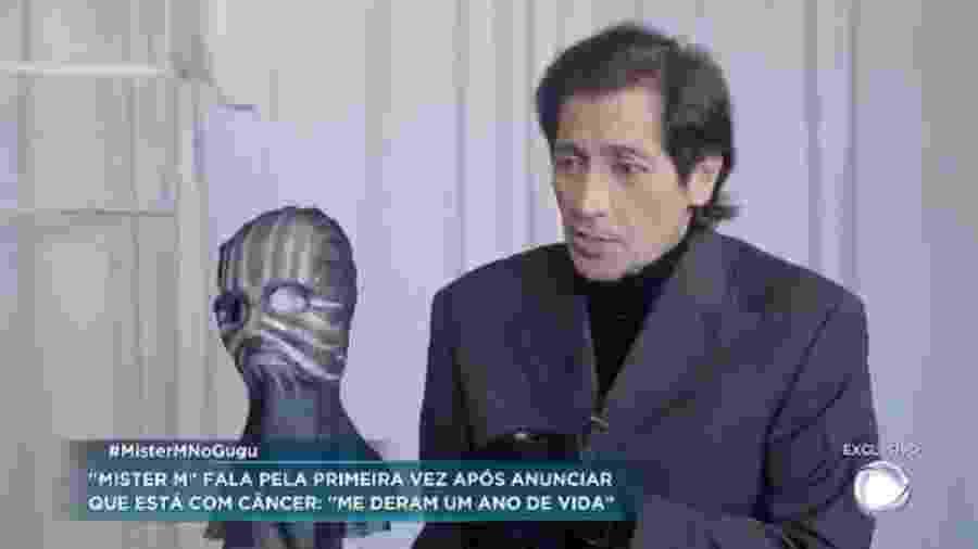 Mister M relata suposto câncer terminal, mas não apresenta exames  - Reprodução/TV Record