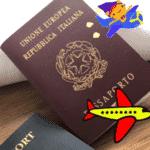 Karina mostrou os passaportes dos dois nas redes: o italiano, dela, e americano, dele. - Reprodução/Instagram