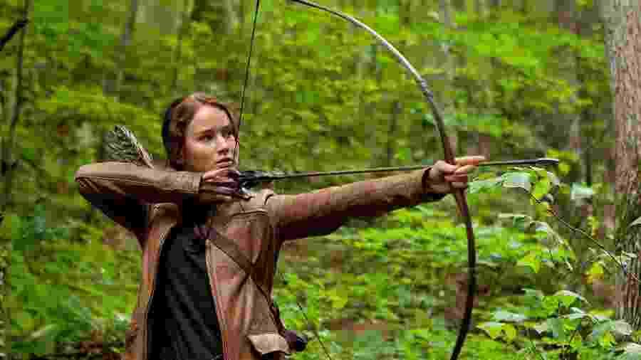 Jennifer Lawrence em cena de Jogos Vorazes (2012) - Divulgação