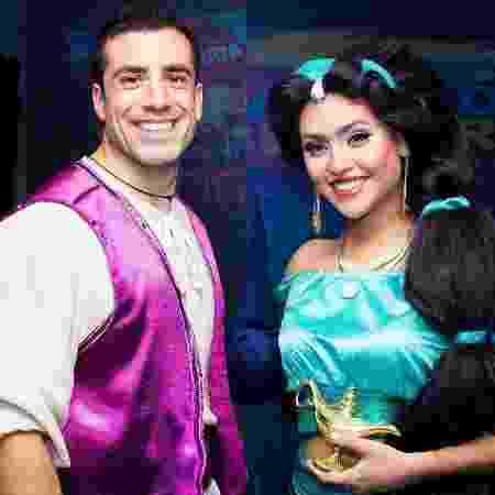 Kaysar vira Aladdin em festa infantil - Reprodução/Instagram - Reprodução/Instagram