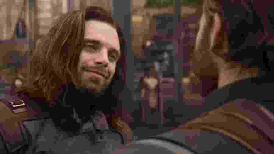"""Bucky Barnes, o Soldado Invernal, encontra Capitão América em """"Vingadores: Guerra Infinita"""" - Reprodução"""