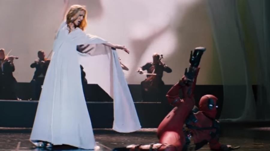 """Deadpool dança ao lado de Celine Dion no videoclipe de """"Ashes"""", música da trilha de """"Deadpool 2"""" - Reprodução/YouTube"""