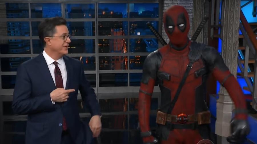 """Deadpool invade o programa """"The Late Night"""" - Reprodução"""