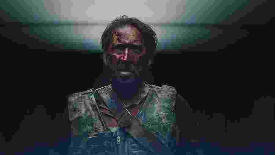 """O ator Nicolas Cage em cena de """"Mandy"""" - Reprodução"""
