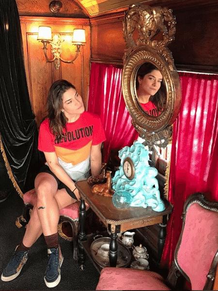 """Priscila Fantin tatuou um """"bigode"""" em homenagem ao namorado Bruno Lopes - Reprodução/Instagram"""