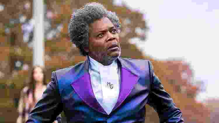 """Samuel L. Jackson interpreta o supervilão """"Sr. Vidro""""  - Jessica Kourkounis/Universal"""