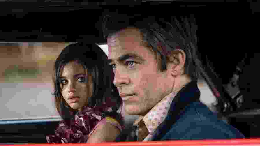 """India Eisley e Chris Pine em cena de """"I Am The Night"""" - Divulgação/IMDb"""