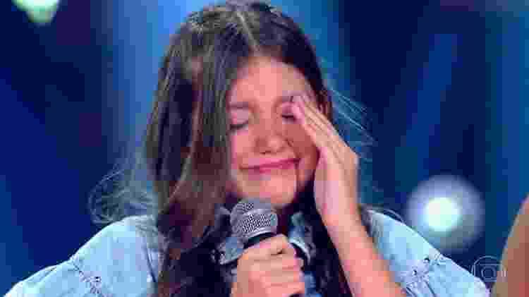 """Luisa Ferrari se emociona no """"The Voice Kids"""" - Reprodução/Globo - Reprodução/Globo"""
