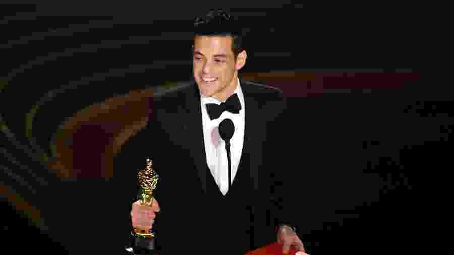 """Rami Malek ganha o Oscar de melhor ator por """"Bohemian Rhapsody"""" - Kevin Winter/Getty Images"""