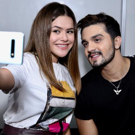 Maisa acompanhou gravação de novo DVD de Luan Santana - Roberto Filho/Brasil News