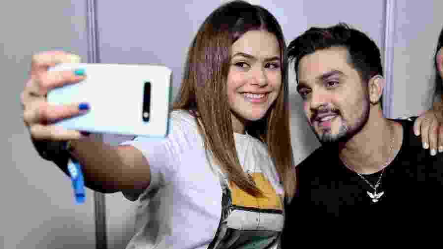 Maisa e Luan Santana na gravação do DVD do cantor em Salvador - Roberto Filho/Brasil News
