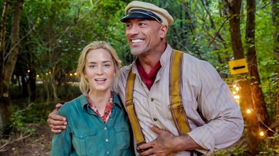 The Rock e Emily Blunt, de Jungle Cruise - Divulgação