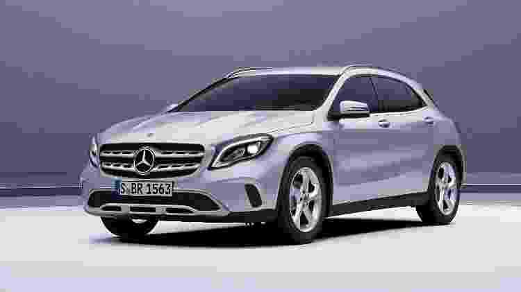 Todas as cinco cores disponíveis para o GLA no configurador da Mercedes-Benz não trazem custo adicional - Divulgação
