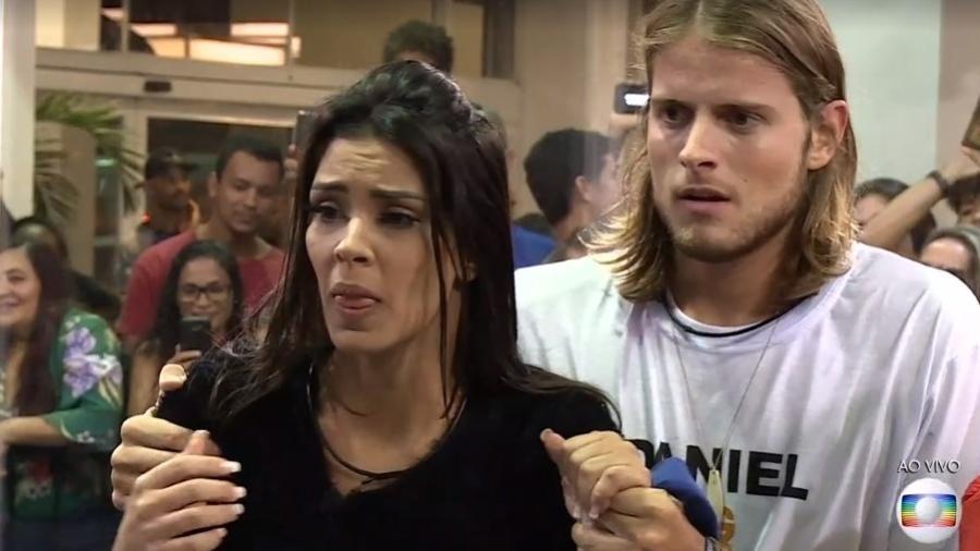 Ivy e Daniel se emocionam com resultado da Casa de Vidro - Reprodução/TV Globo