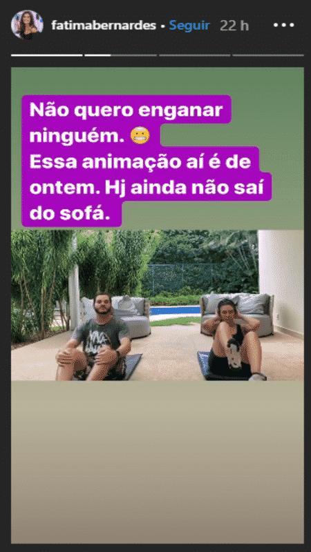 Fátima Bernardes  - Reprodução / Instagram - Reprodução / Instagram