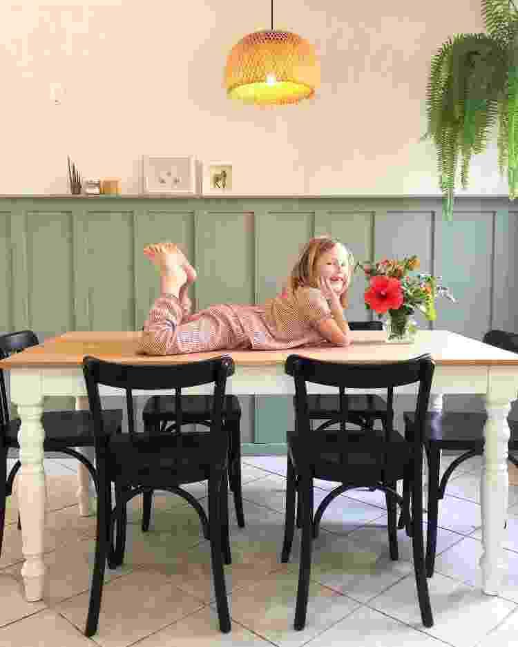 Sala de jantar de Shana e Clara, que protagoniza o registro - Arquivo Pessoal - Arquivo Pessoal