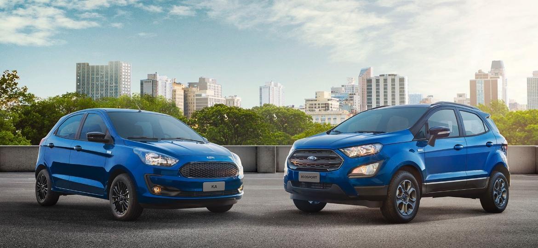 Descontinuados no Brasil em 2021, Ford Ka e EcoSport ainda são feitos na Índia inclusive para exportação, mas lá também sairão de linha, em 2022 - Divulgação