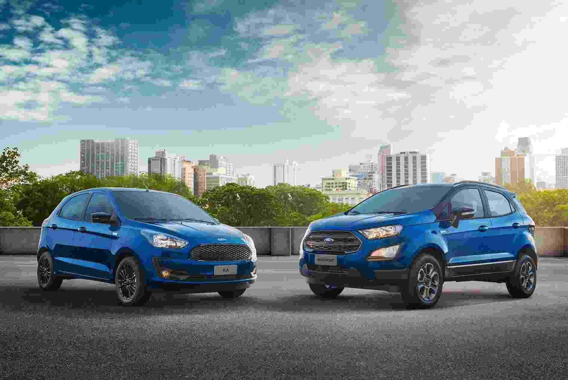 Ford Ka e Ford Ecosport edição de 100 anos - Divulgação