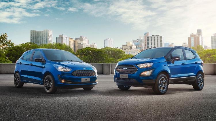 Ford Ka e Ford Ecosport edição de 100 anos - Divulgação - Divulgação