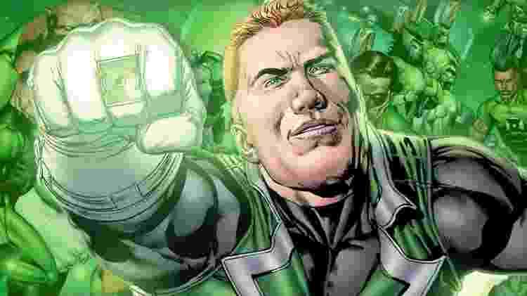 Lanterna Verdade (Guy Gardner) nas HQs - Reprodução - Reprodução