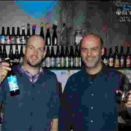 Giba Tarantino e James Watt, da BrewDog - Arquivo pessoal - Arquivo pessoal