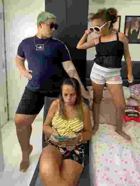 Yarley com a mãe Ariete e a irmã Rayssa - Reprodução/Instagram - Reprodução/Instagram