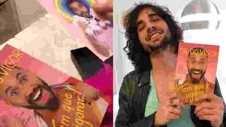 Fiuk mostra livro que ganhou de Gilberto Nogueira, ex-colega de BBB 21 - Reprodução/Instagram - Reprodução/Instagram