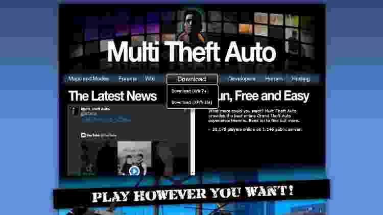 GTA RP: San Andreas - tutorial para PC com MTA 1 - Reprodução/MTA - Reprodução/MTA