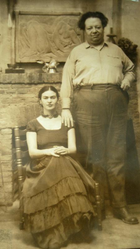 A artista mexicana Frida Khalo ao lado do marido Diego Rivera - EFE
