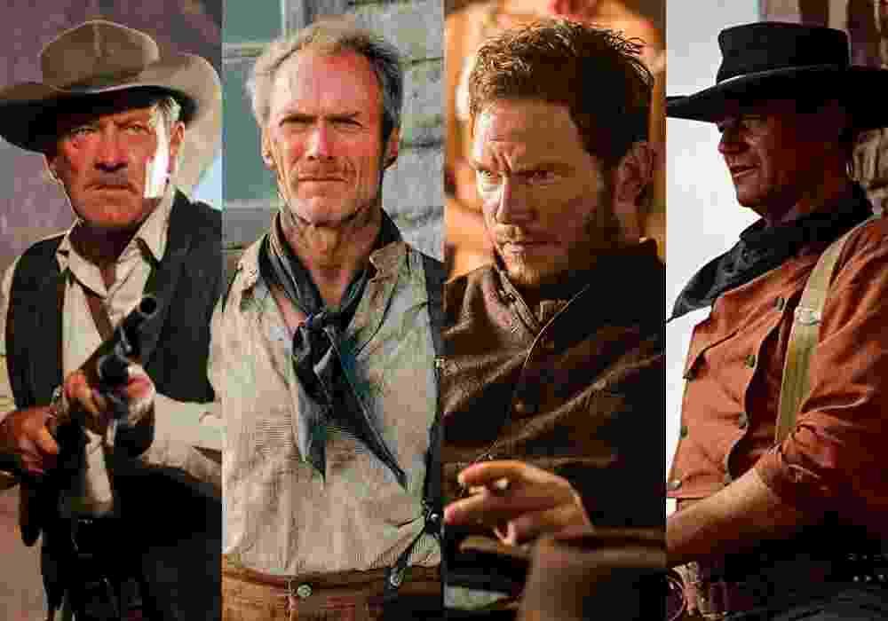 """Cenas dos filmes """"Meu Ódio Será Sua Herança"""" (1969), de Sam Peckinpah/""""Os Imperdoáveis"""" (1992), de Clint Eastwood/""""Sete Homens e um Destino"""" (2016), de Antoine Fuqua/""""Rastros de Ódio"""" (1956), de John Ford - Montagem/Reprodução"""