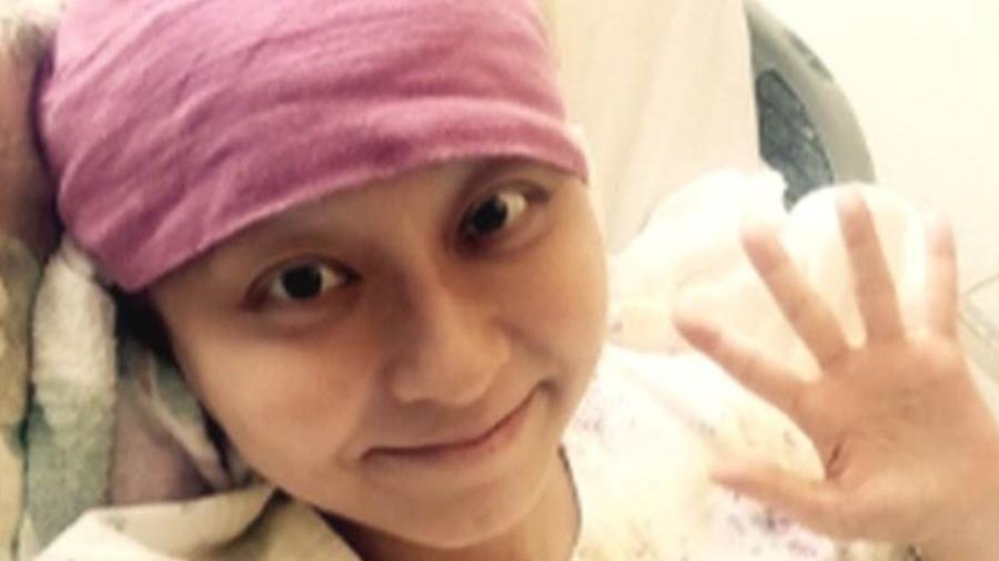 Mao Kobayashi durante tratamento contra o câncer - Arquivo pessoal
